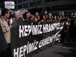 Hepimiz Hrant'iz! Hepimiz Ermeni'yiz! (We Are All Hrant! We Are All Armenian!)