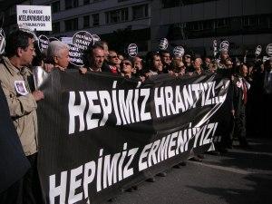 Hepimiz Hrant'iz! Hepimiz Ermeni'yiz! (We Are All Hrant! We Are All Armenian!)