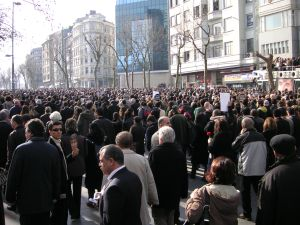 Hrant Dink's funeral procession, 23rd January 2007