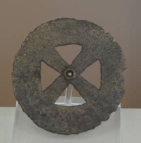 18 Br 11622 BRONZE WHEEL Geometric period (8th) Diameter 0.053 m