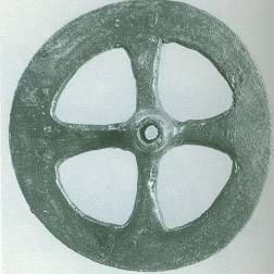 19 BR 8051 BRONZE WHEEL Geometric period (8th) Diameter 0.059 m