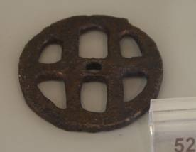 25 Br 12028 BRONZE WHEEL Geometric period (8th) Diameter 0.041 m