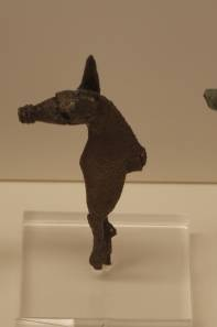 43 Br 10688 BRONZE FIGURINE OF HORSE Geometric period (8th) surviving height: 6.7 cm