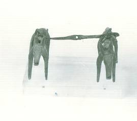 44 M 895 COMPLEX/GROUP OF COUPLES/PAIRS OF HORSES, Geometric period Length: 0.065 m