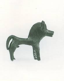 50 M 905 BRONZE FIGURINE OF HORSE Geometric period (8th) Length: 0.058 m Height: 0.05 m