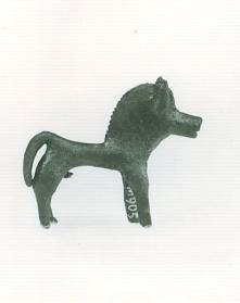 50 M 905 BRONZE FIGURINE OF HORSE Geometric period (8th) Length: 0.058 m Height: 0.05 m
