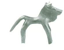 53 B 8256 BRONZE FIGURINE OF BULL (8th) Height: 0.044 m length: 0.056 m