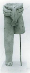 63 P 2965 TERRACOTTA FIGURINE OF CHARIOTEER height: 9.5 cm