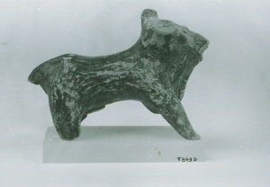 72 T 843D TERRACOTTA FIGURINE OF BULL length = 10.7 cm Height = 8 cm