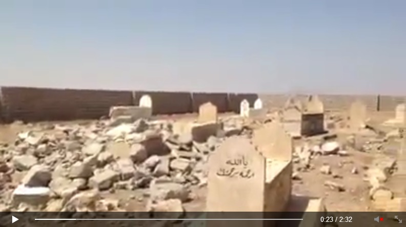 Yezidi shrine destroyed by IS terrorists. [Von den IS-Terroristen zerstörte êzîdîsche Pilgerstätte.] (c) Ezidi Press, Facebook, 31. August 2014 (b)