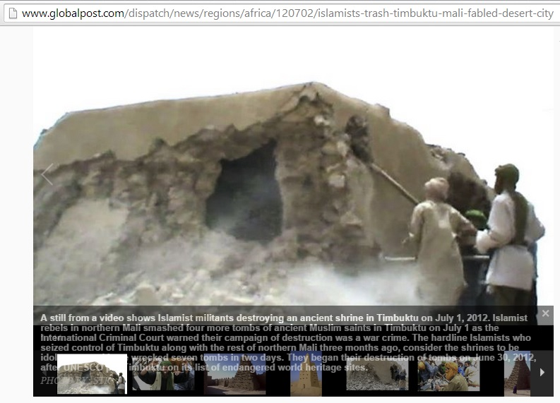 Islamists trash Timbuktu, Mali's fabled desert city (c) Global Post, 2nd July 2012