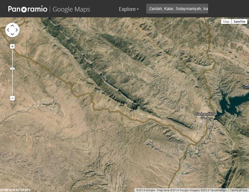 Zardah, Kalar, Sulaymaniyah, Iraq on Google Maps via Panoramio