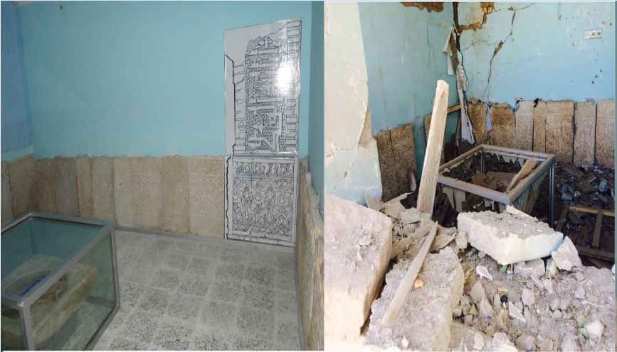 Figure 3: Before and after the attack at Museums of Islamic and Pre-Islamic Art in Ghazni (c) Ajmal Yar, 6th September 2014