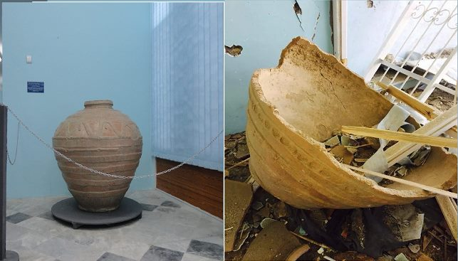 Figure 4: Before and after the attack at Museums of Islamic and Pre-Islamic Art in Ghazni (c) Ajmal Yar, 6th September 2014