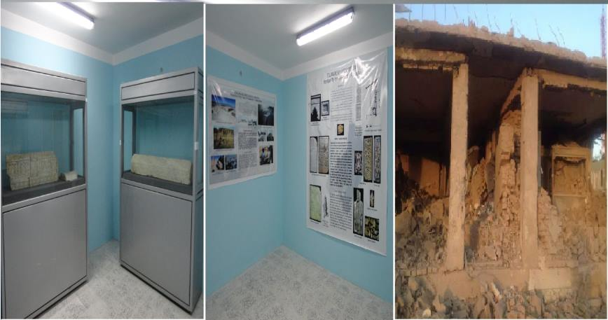 Figure 6: Before and after the attack at Museums of Islamic and Pre-Islamic Art in Ghazni (c) Ajmal Yar, 6th September 2014