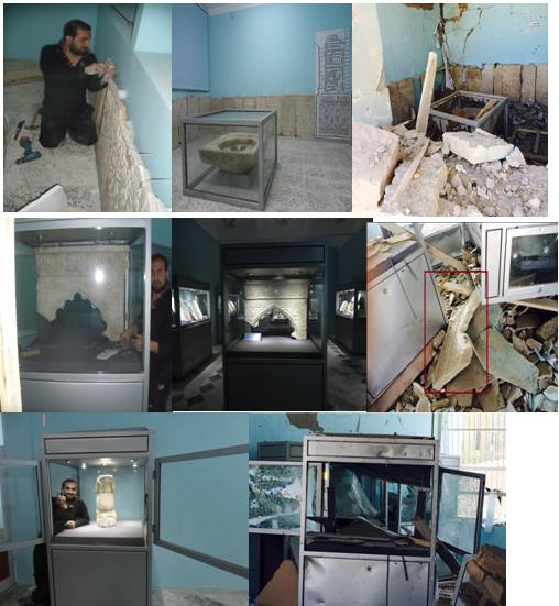Figure 7: Before and after the attack at Museums of Islamic and Pre-Islamic Art in Ghazni (c) Ajmal Yar, 10th September 2014