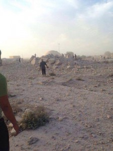 Apparently, the Shrine of Imam Dur after destruction (c) Iraq Press Agency, 23rd October 2014