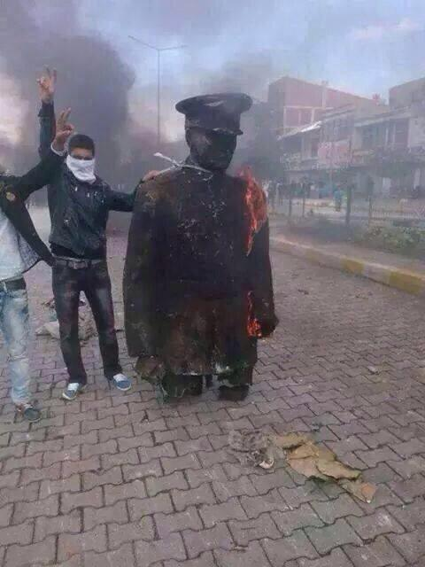 Attaturk is burning down, burning down , my unfair terrorist. (c) Kurdyy, Twitter, 8th October 2014