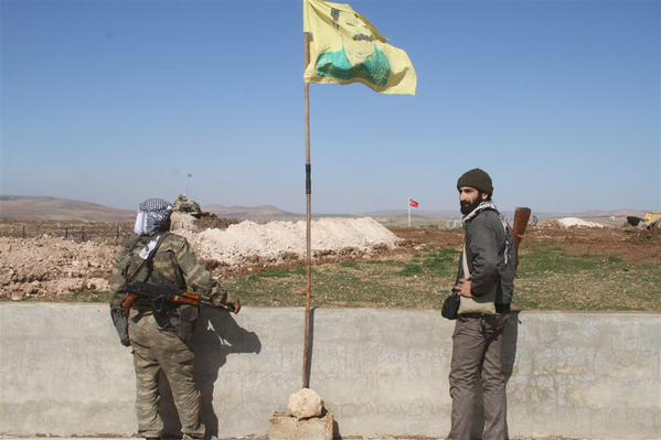 'The village of Ashme in western of #Kobane: New place for  Suleyman Sah tomb. The village is under #YPG control (ANF)' (c) Cahida Dêrsim, Twitter, 22nd February 2015