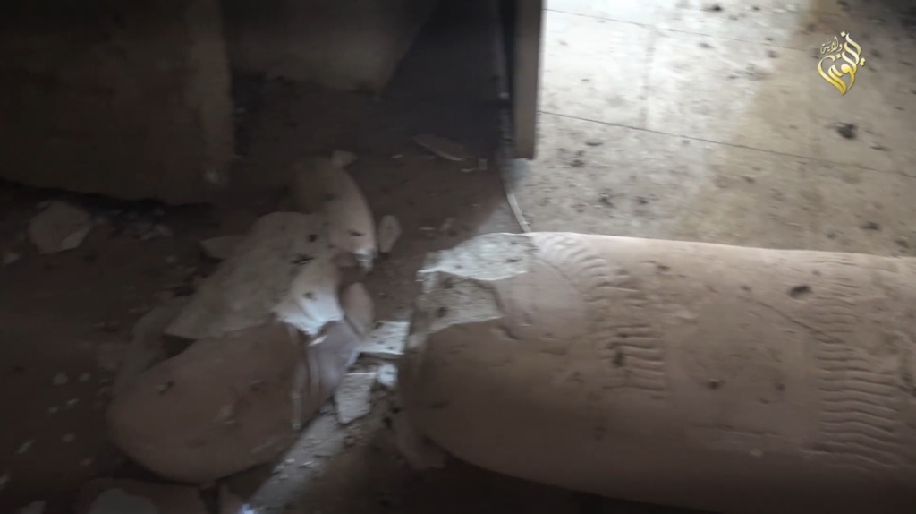 Destruction of artefacts and reproductions in Mosul Museum by Islamic State (MediaFire, 00h01m51s, 26th February 2015)
