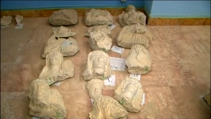 Palmyra antiquities under threat from Islamic State (c) Channel 4 News, 15th May 2015: 00h01m46s