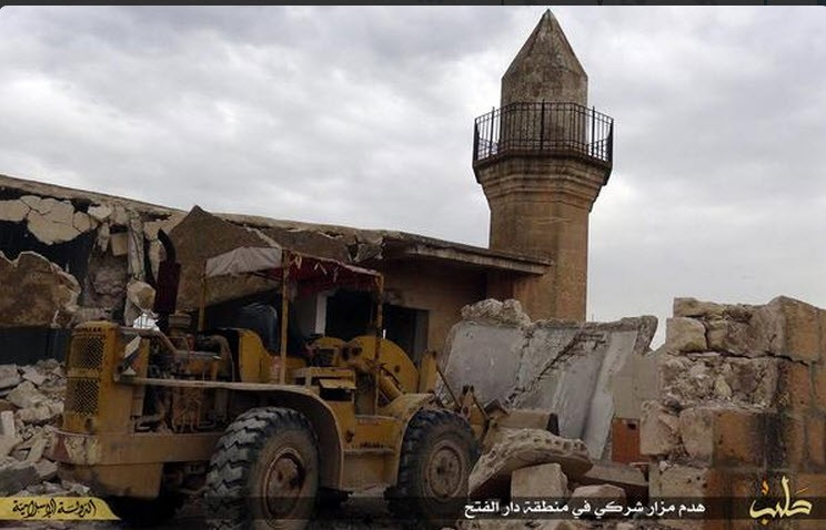 demolition in Syria under the Islamic State (26th April 2015)