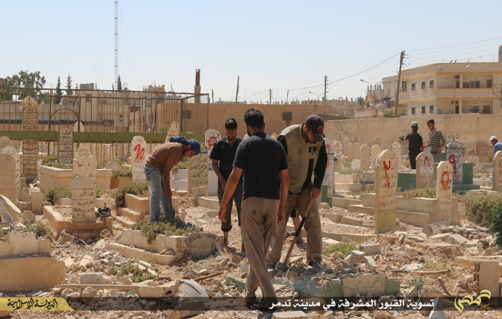 demolition of graves in Palmyra under Islamic State rule