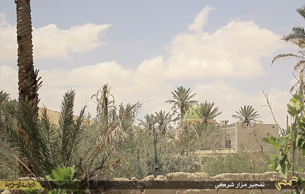 Photographer's report: Removal of the landmarks of polytheism in the city of Palmyra (Islamic State, 22nd June 2015 e)