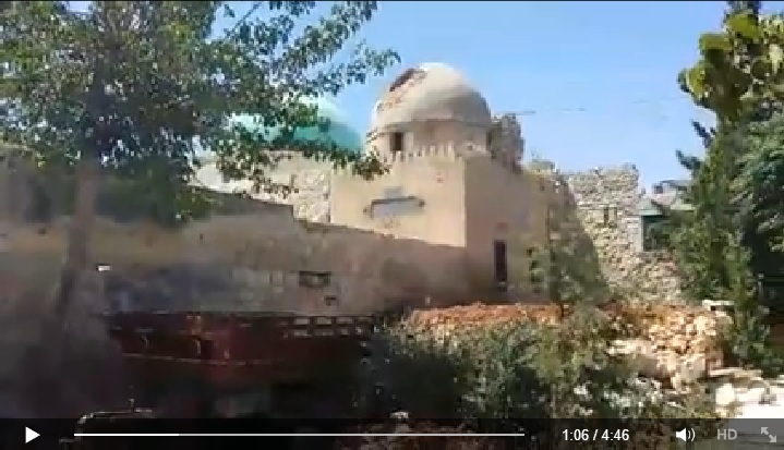 Video reporting the massacre took place in one of the oldest mosques in Aleppo (Suomi Syyria Yhteisö Ry, Facebook, 23rd June 2015: 00h01m06s)