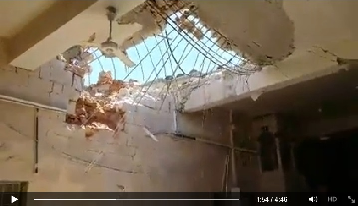 Video reporting the massacre took place in one of the oldest mosques in Aleppo (Suomi Syyria Yhteisö Ry, Facebook, 23rd June 2015: 00h01m54s)