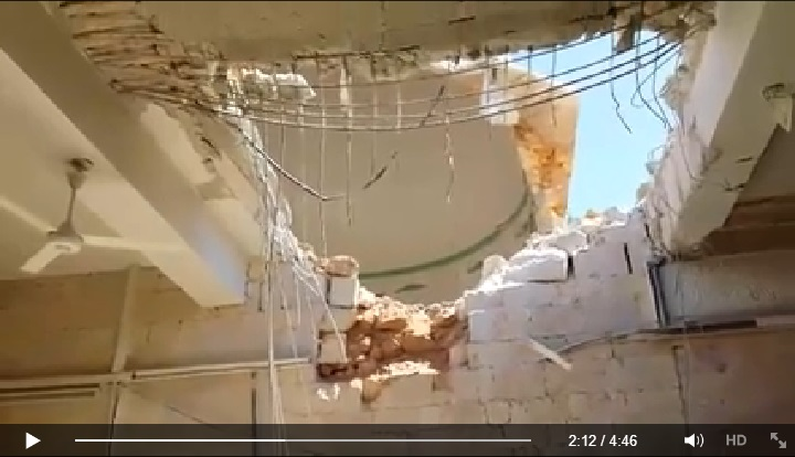 Video reporting the massacre took place in one of the oldest mosques in Aleppo (Suomi Syyria Yhteisö Ry, Facebook, 23rd June 2015: 00h02m12s)