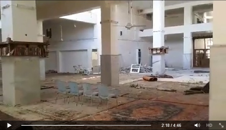 Video reporting the massacre took place in one of the oldest mosques in Aleppo (Suomi Syyria Yhteisö Ry, Facebook, 23rd June 2015: 00h02m18s)