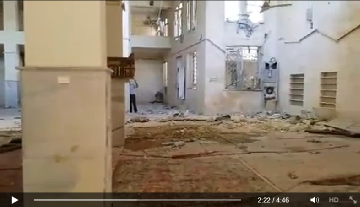 Video reporting the massacre took place in one of the oldest mosques in Aleppo (Suomi Syyria Yhteisö Ry, Facebook, 23rd June 2015: 00h02m22s)
