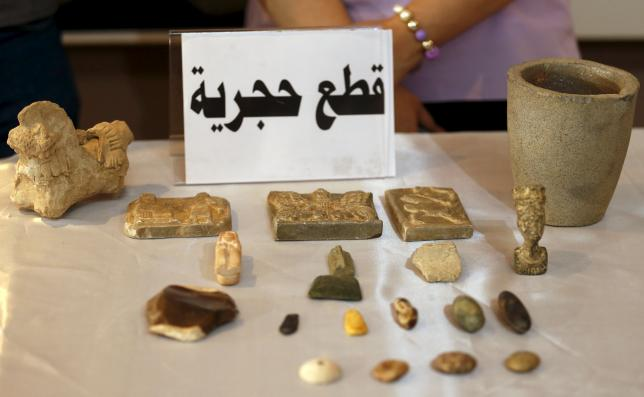 Recovered artifacts are seen at the National Museum of Iraq in Baghdad July 15, 2015 (c) Thaier al-Sudani, Reuters, 15th July 2015 c