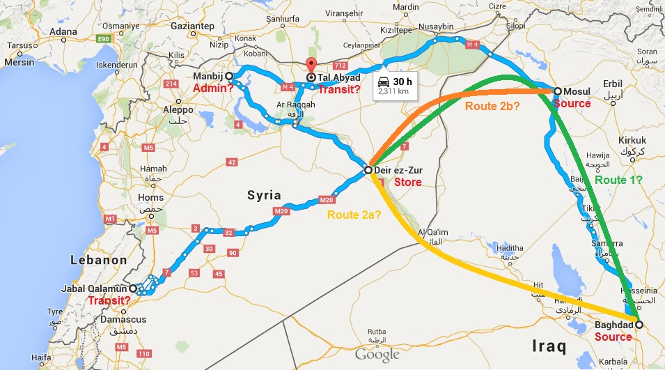 Baghdad to Mosul to Deir ez-Zor to where? Baghdad to Deir ez-Zor, Mosul to Deir ez-Zor, Deir ez-Zor to where?