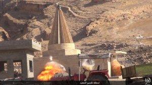 Islamic State destruction of temple, Kabara, Sinjar, al-Jazirah, Iraq (2015, 15.08.26 o)