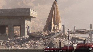 Islamic State destruction of temple, Kabara, Sinjar, al-Jazirah, Iraq (2015, 15.08.26 p)