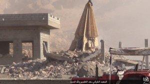 Islamic State destruction of temple, Kabara, Sinjar, al-Jazirah, Iraq (2015, 15.08.26 p)