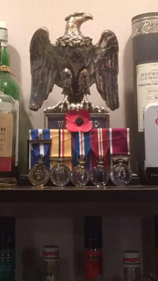 Ross Munro's medals, Facebook, 10th January 2016