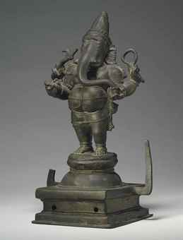 A bronze figure of Ganesha. Indian, Himalayan and Southeast Asian Works of Art, Lot 295, Sale 12168, Christie's, New York, USA, 15th March 2016.