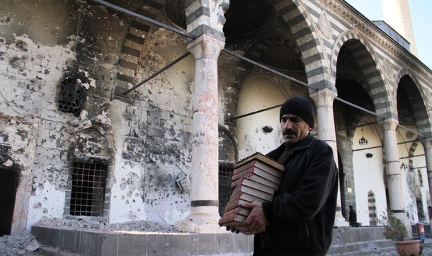 Historical Kurşunlu Mosque turns into ruin in southeastern Turkey (c) Cihan News Agency, 11th December 2015 (A)