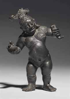 A rare and important bronze figure, possibly of Chakrapurusha. The Lahiri Collection: Indian and Himalayan Art, Ancient and Modern, Lot 42, Sale 12255, Christie's, New York, USA, 15th March 2016.