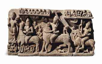 A large and highly important buff sandstone panel depicting Revanta and his entourage. The Lahiri Collection: Indian and Himalayan Art, Ancient and Modern, Lot 62, Sale 12255, Christie's, New York, USA, 15th March 2016.