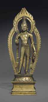 A bronze figure of Maitreya. The Lahiri Collection: Indian and Himalayan Art, Ancient and Modern, Lot 51, Sale 12255, Christie's, New York, USA, 15th March 2016.